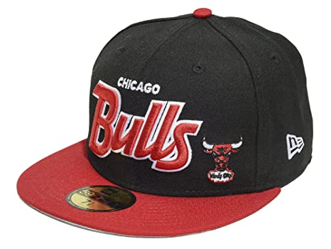 411f5d8fffe New Era 59FIFTY NBA Chicago Bulls Hardwood Classics Fitted Cap Black Red  Size 7