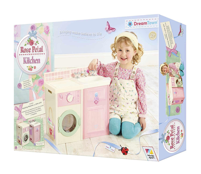 Worlds Apart DreamTown Rose Petal Küchenset für Kinder, Zubehör ...