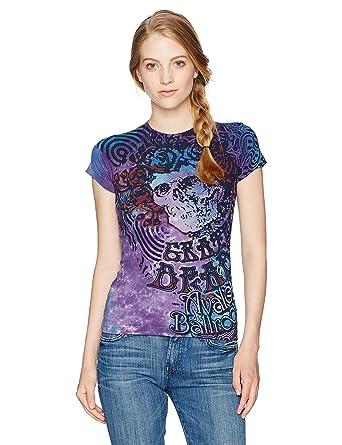 f3f81f26 Amazon.com: Liquid Blue Women's Grateful Dead Bertha Baby Blue Juniors Tie  Dye Graphic Tee, Small: Clothing
