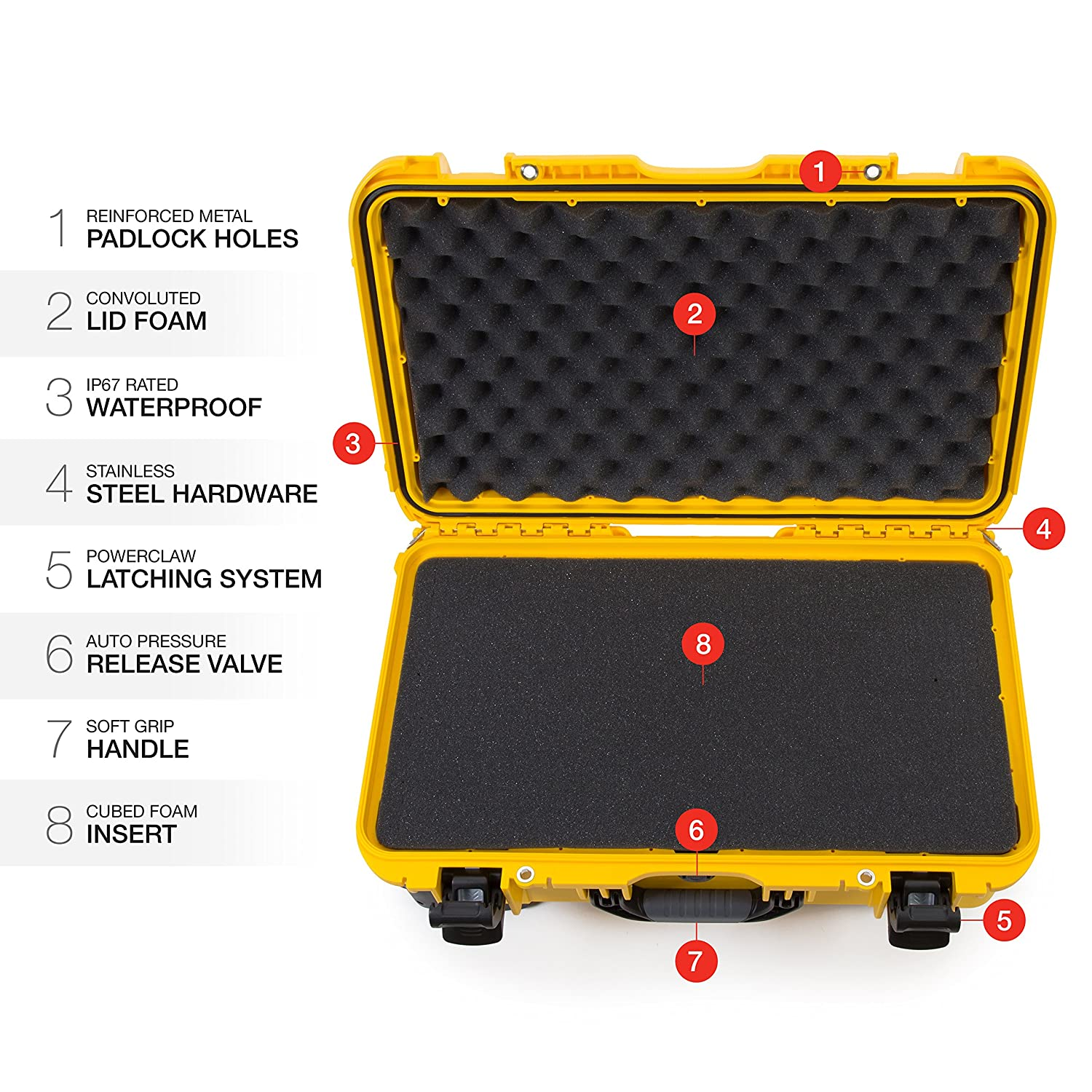 Graphite Nanuk 935 Waterproof Hard Case with Wheels and Foam Insert for Sony Mirrorless Cameras and Lenses