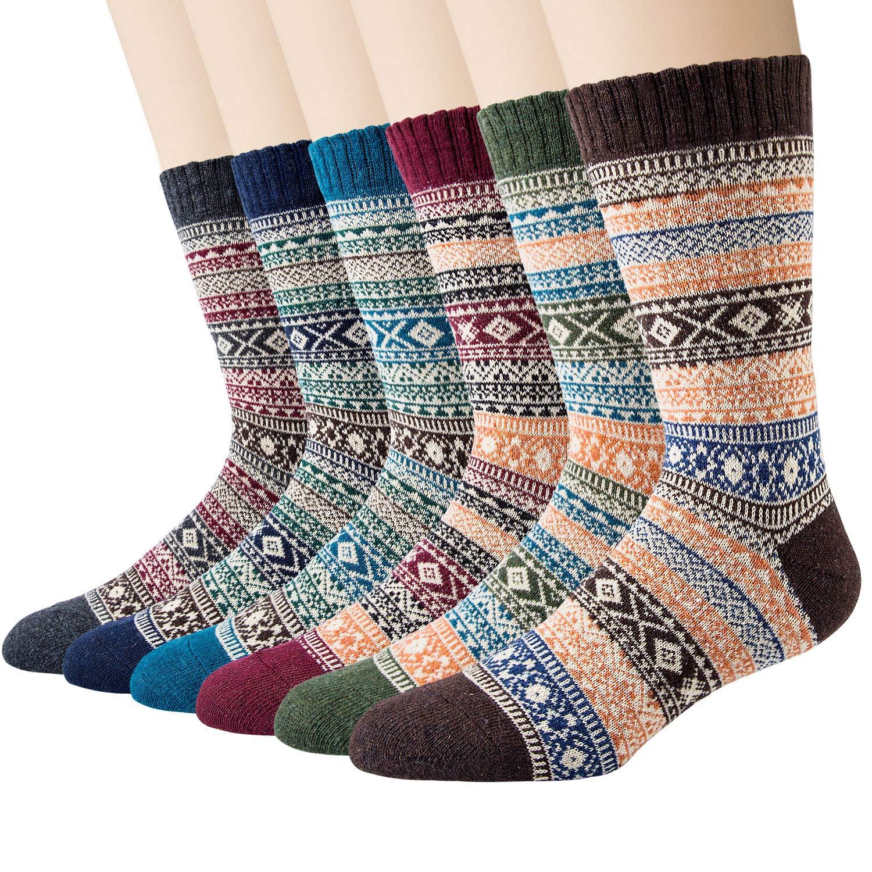 Size: UK 5.5-14 EU 38-50 5 Pairs of Mens Thick /& Warm Wool Socks