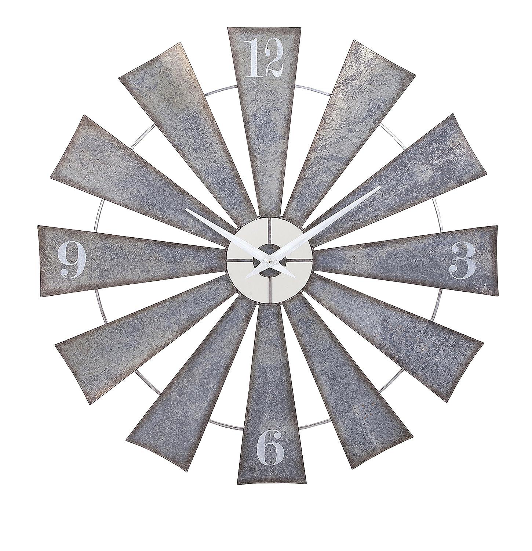 Amazon imax 47608 ward metal windmill wall clock gray home amazon imax 47608 ward metal windmill wall clock gray home kitchen amipublicfo Images