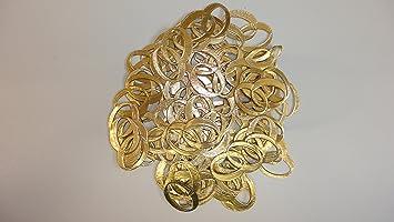 130 0010 205 Eheringe Gold 60 Stck Deko Goldene Hochzeit