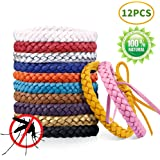 LZHOO Mosquito Repellent Bracelets - Deet Free Repellent Bands, 12 color 100% All Natural Plant-Based Oil Mosquito Wrist bands, Mosquito Killer For Long Protection Outdoor and Indoor, For Adults & Kids