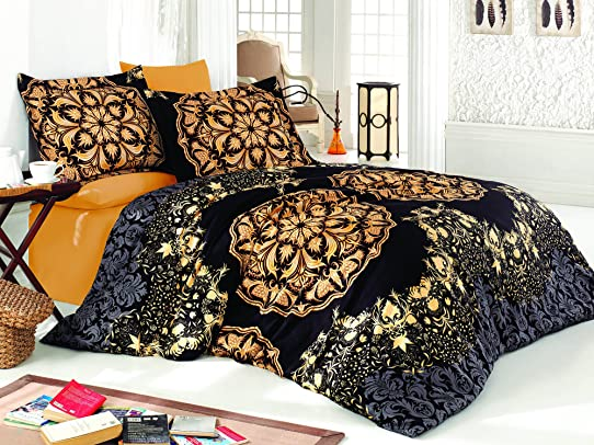 parure de lit style indien best unimall paure de lit style boho indien linge de lit coton. Black Bedroom Furniture Sets. Home Design Ideas