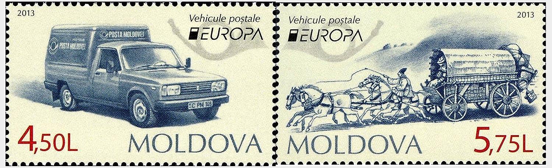 Stampbank Europa CEPT 2013 Set de 2 Sellos moldavo Veh/ículos Postales 2013 Historia Postal MNH Moldavia Rep/ública