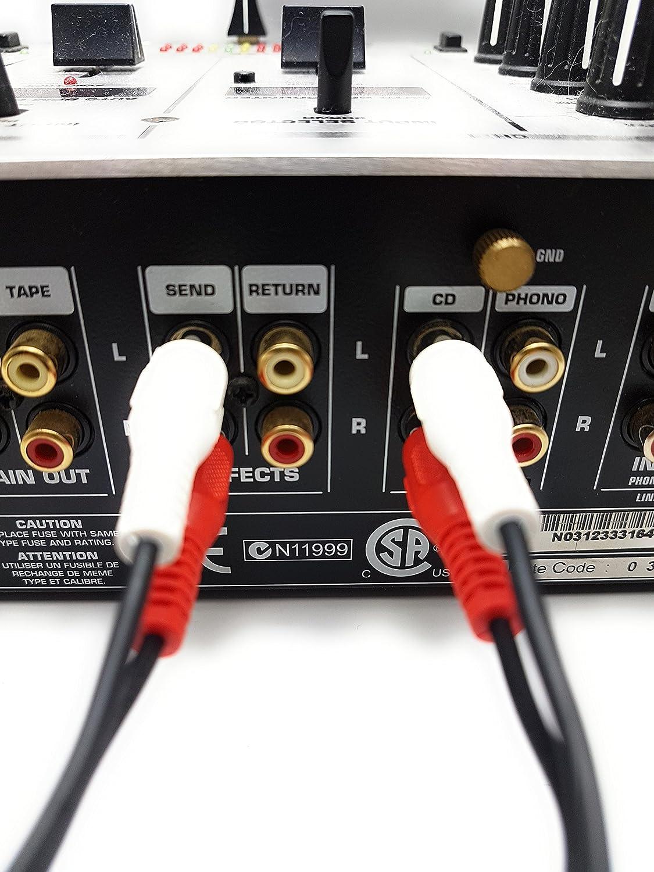 Cable Ragai con conector RCA macho doble a conector RCA macho ...