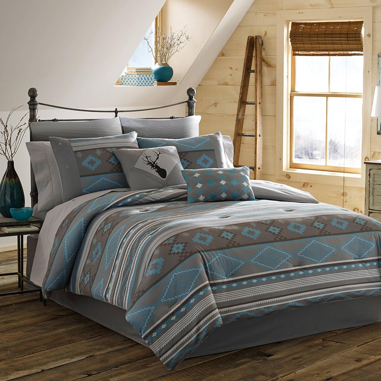 True Timber Southwest Comforter Set, Full, Teal