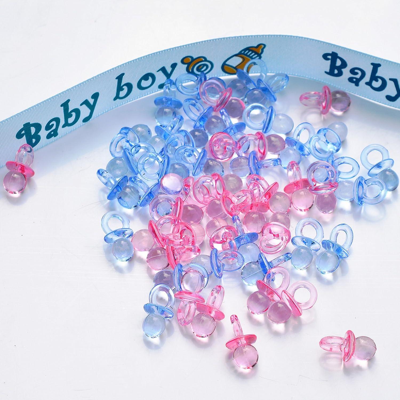 Amazon.com: Acrílico Baby Pacifier Confeti Baby Shower ...