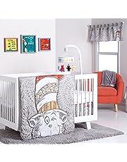 Trend Lab Dr. Seuss Peek-a-Boo Cat in the Hat 4 Piece Crib Bedding Set, Multi
