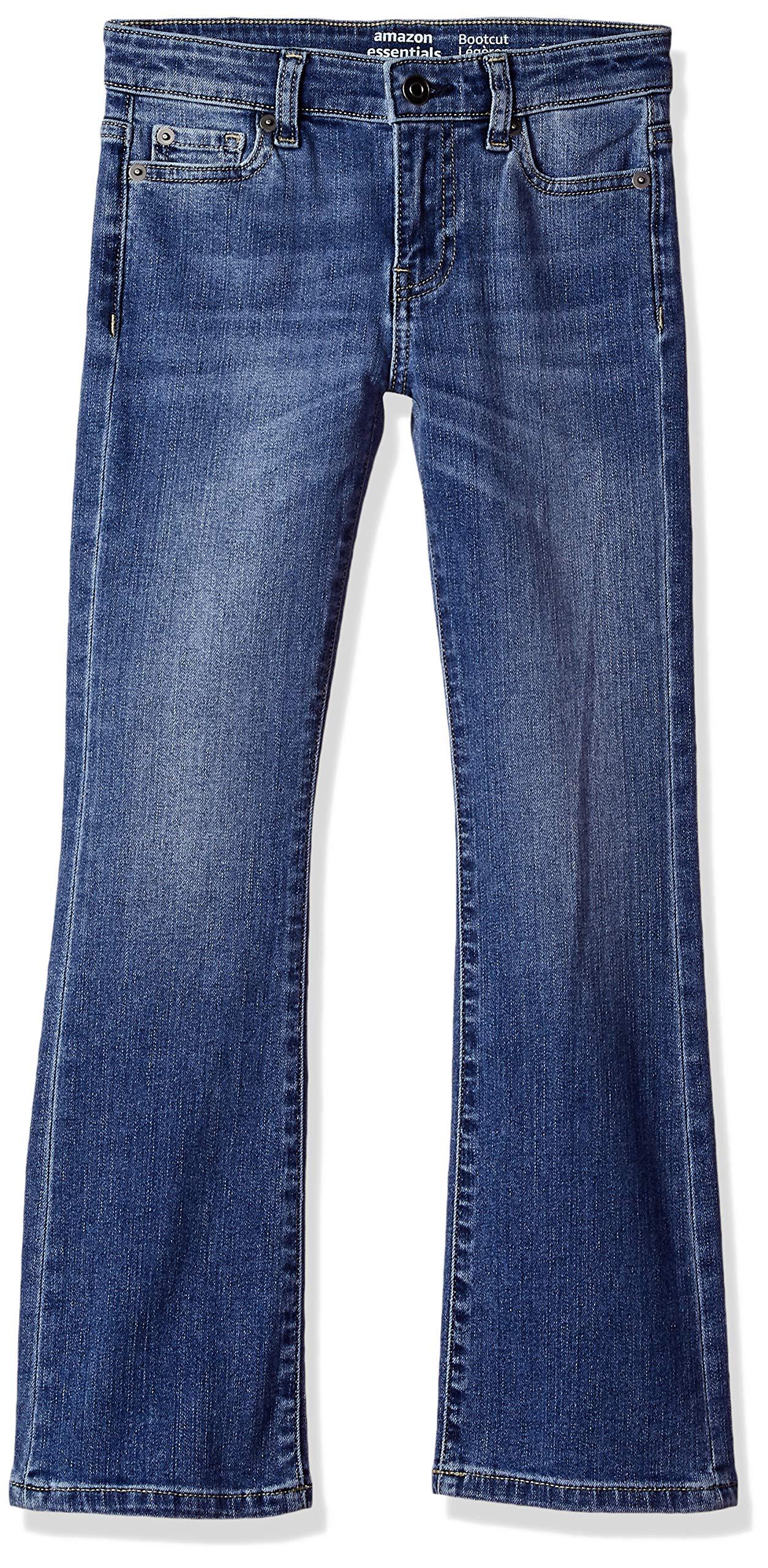 Amazon Essentials Big Girls' Boot-Cut Jeans, Arizona/Light,12 by Amazon Essentials