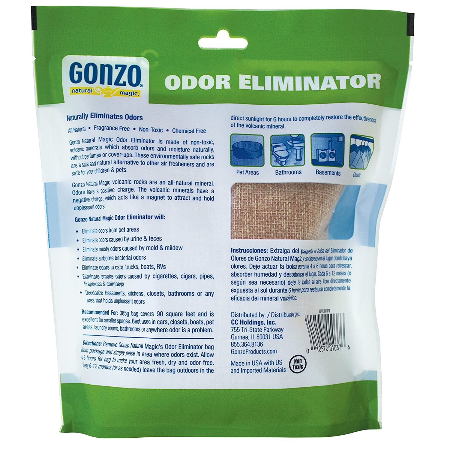 Amazon Gonzo Odor Eliminator For Homes All Natural Non