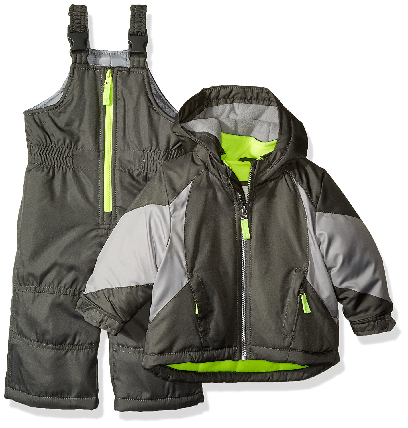 Carter's baby-boys Baby Infant Heavyweight Colorblock Active 2 Pc Snowsuit Grey 12 Months C2166S34