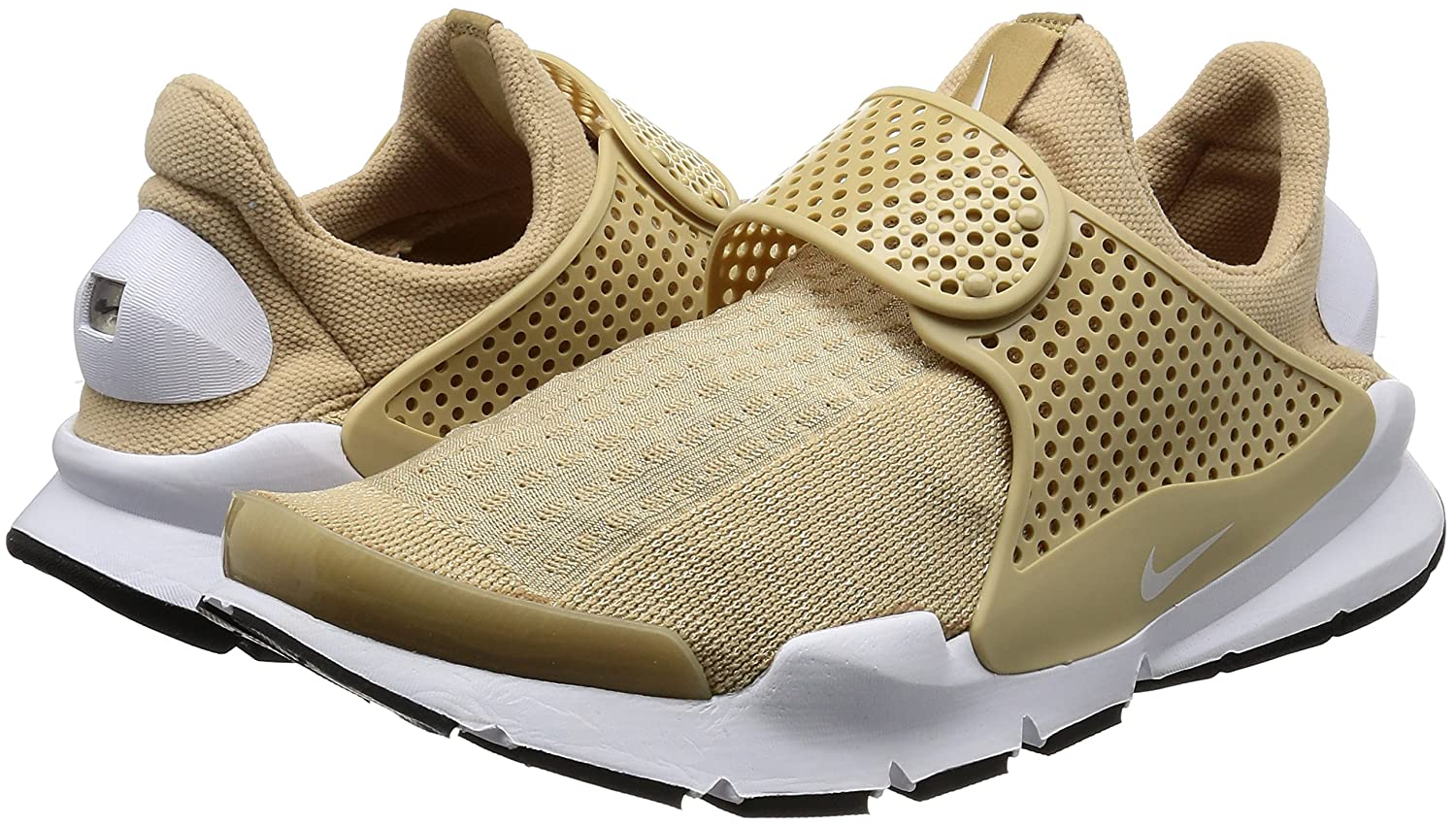 NIKE Womens Sock Dart Running Shoes B01MT9Z7IJ 9 B(M) US|Linen White Black 200