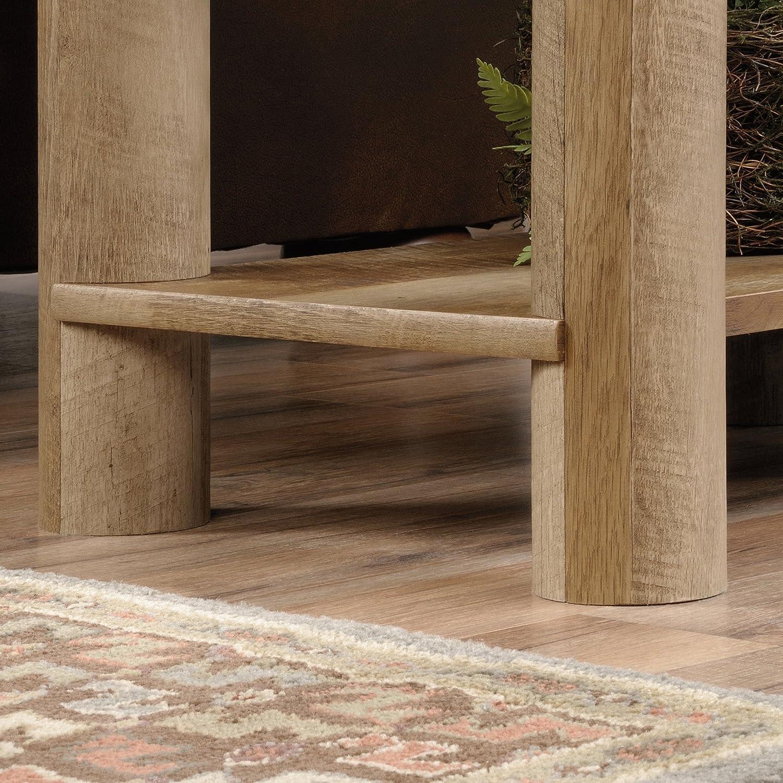 Sauder Boone Mountain Side Table, Craftsman Oak finish