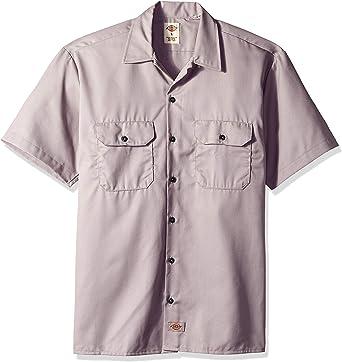 Dickies Camisa de trabajo con manga corta Plateado ...