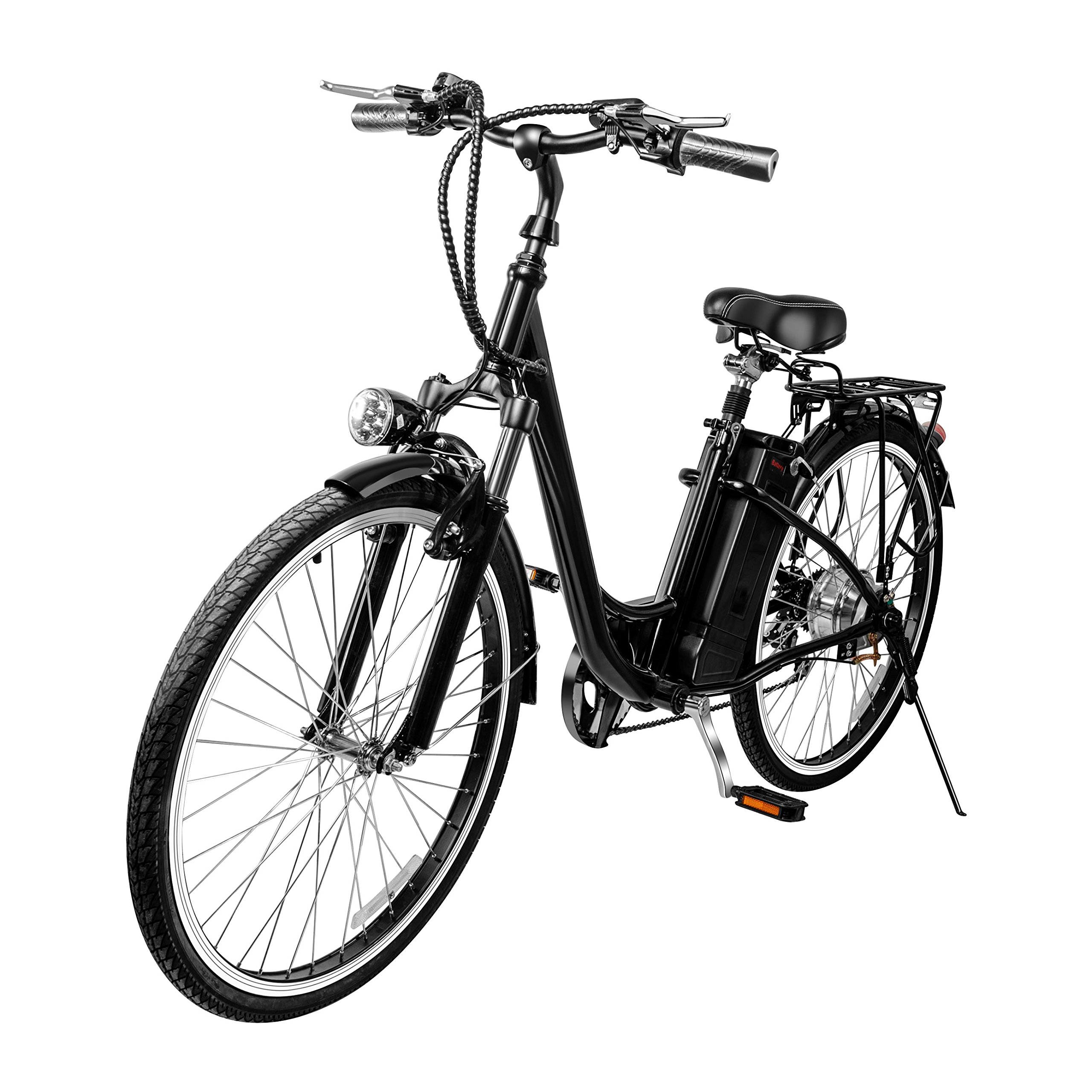 VEEKO 26'' City Electric Bicycle Ebike with 36V 10Ah Lithium Battery