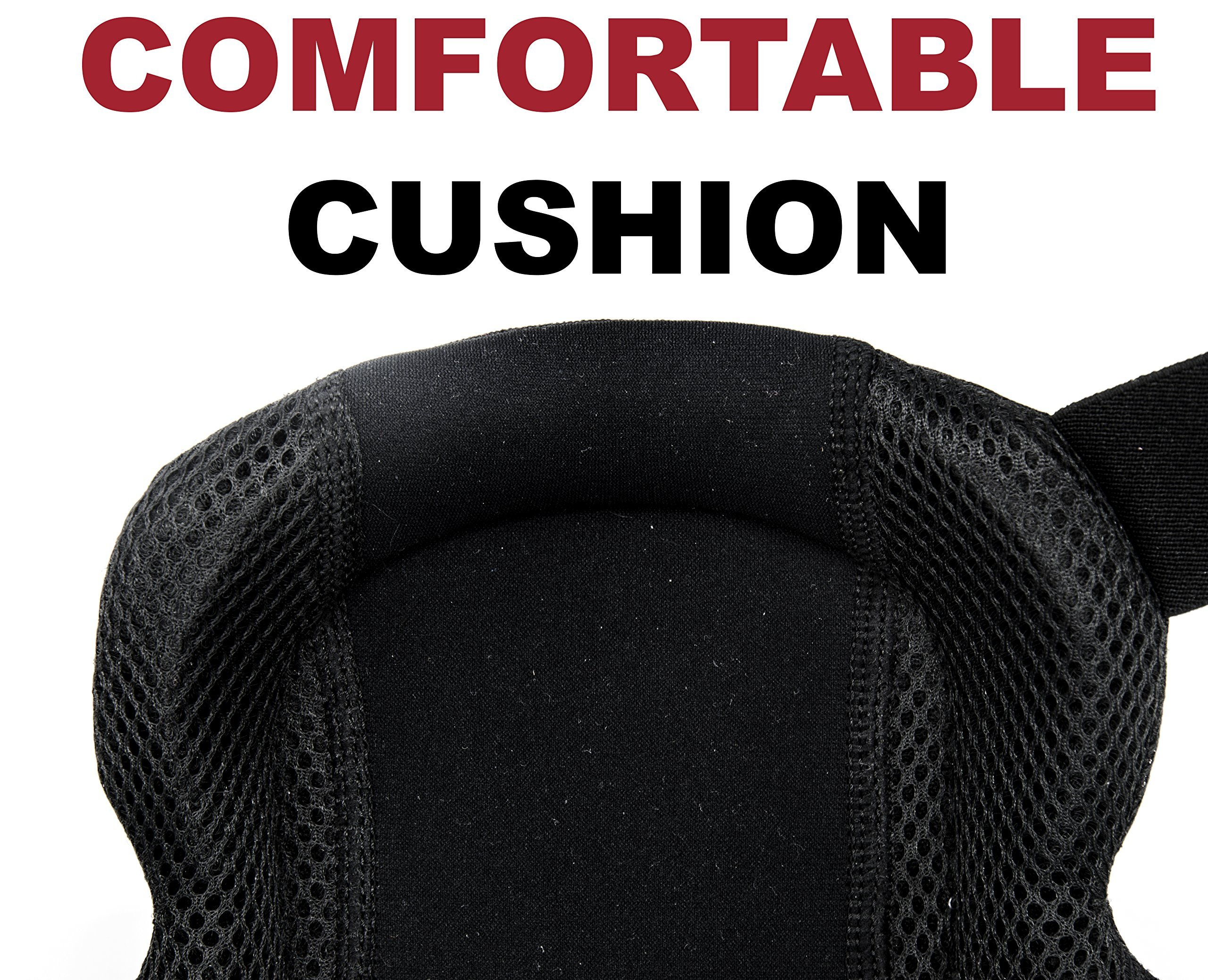 Professional Knee Pads - Easy to WEAR Heavy Duty Memory Foam Padding, Comfortable Gel Cushion, Strong Straps FITS All, Adjustable Easy-Fix Clips - Best for Gardening, Construction, Flooring by Kutir (Image #3)