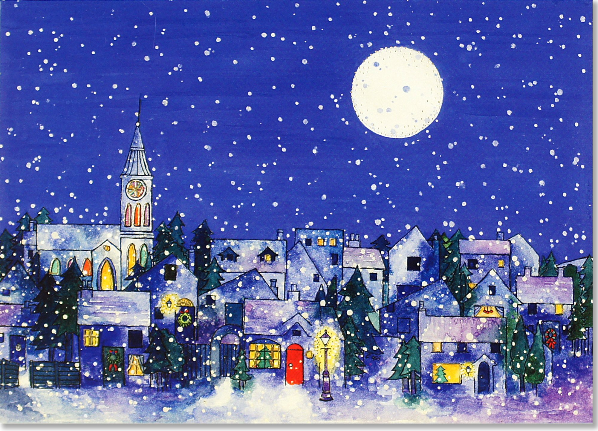 Midnight Moon Deluxe Boxed Holiday Cards (Christmas Cards, Greeting ...