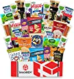 SnackBOX Gluten Free Healthy Snacks Care Package (34 Count) for College Students, Exams, Fathers Day, Military, Finals, Office and Gift Ideas. Over 3 LBS of Chips, Popcorn, and granola Bars.