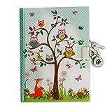 'Woodland' Geheimnis Tagebuch für Kinder - Kinder Tagebuch mit Schloss - Lucy Locket