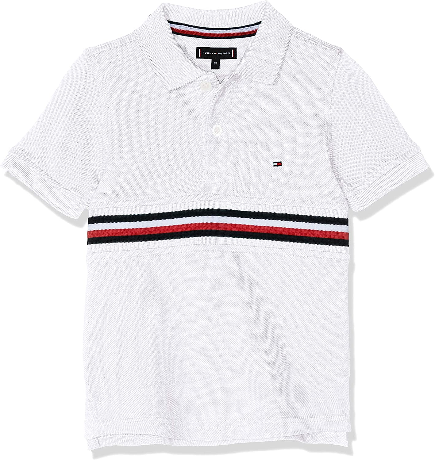 Tommy Hilfiger Flag Insert Polo S/s, Blanco (Bright White 123), 92 ...