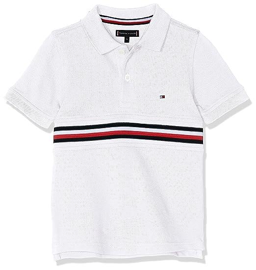 Tommy Hilfiger Flag Insert Polo S/s, Blanco (Bright White 123), 92 ...