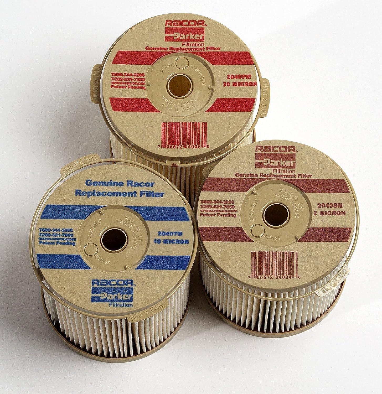 Fuel Filter 2 Micron 2040SM Genuine Racor Fuel Water Separators