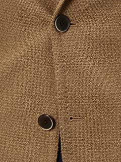 Loop Yarn Cotton Wool 2-button Jacket 3122-699-0852: Brown