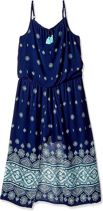 90e21f64a580 Amazon.com  My Michelle Girls  Big Cold Shoulder Romper Maxi Dress ...