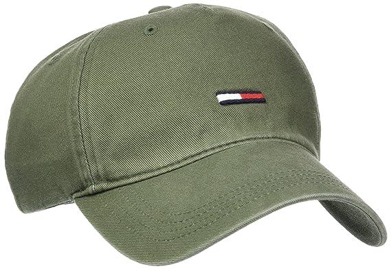 Tommy Hilfiger THD Label Cap Gorra de béisbol, Verde (Four Leaf ...