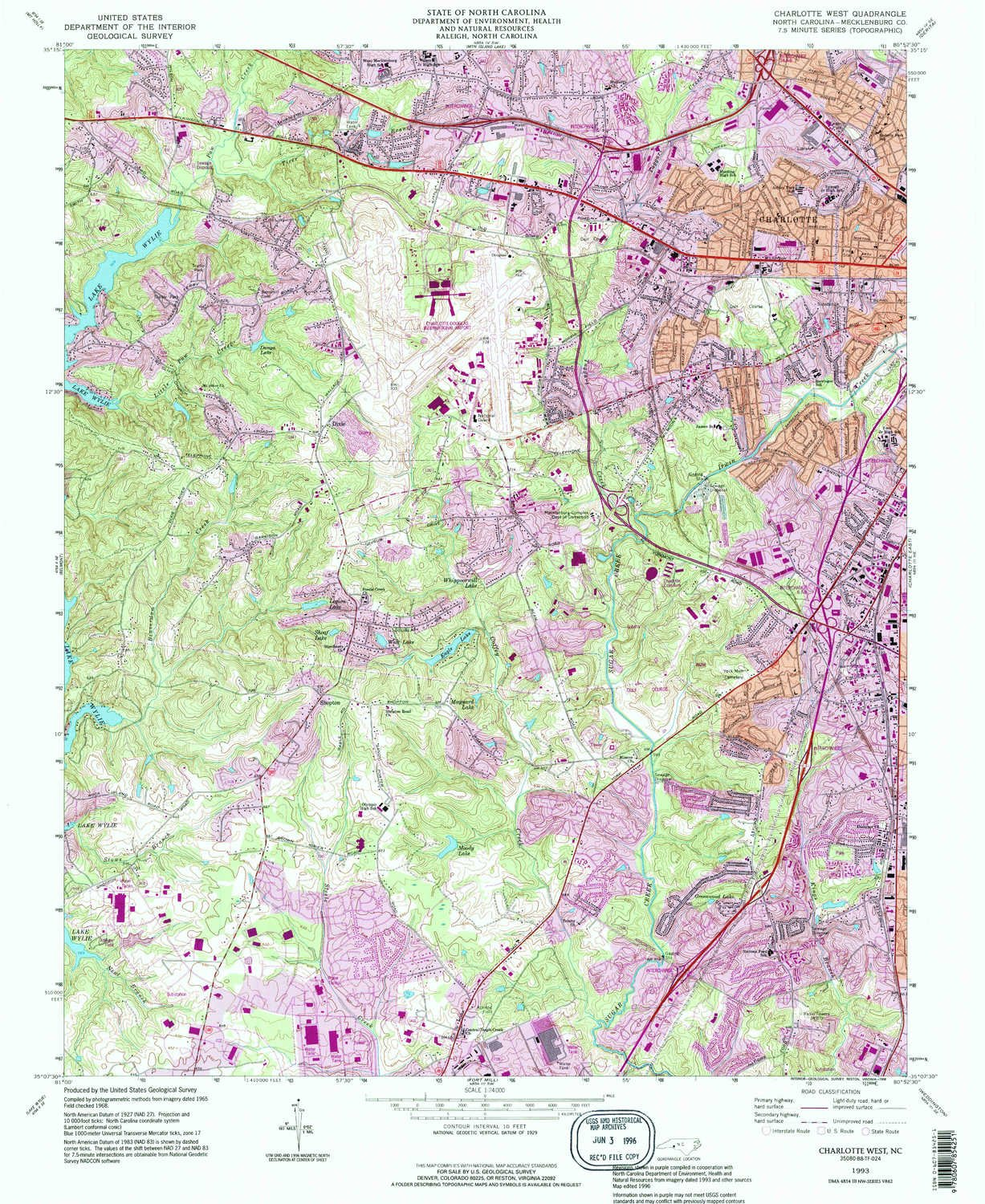 Amazoncom Yellowmaps Charlotte West Nc Topo Map 124000 Scale - Topographic-map-of-us-states