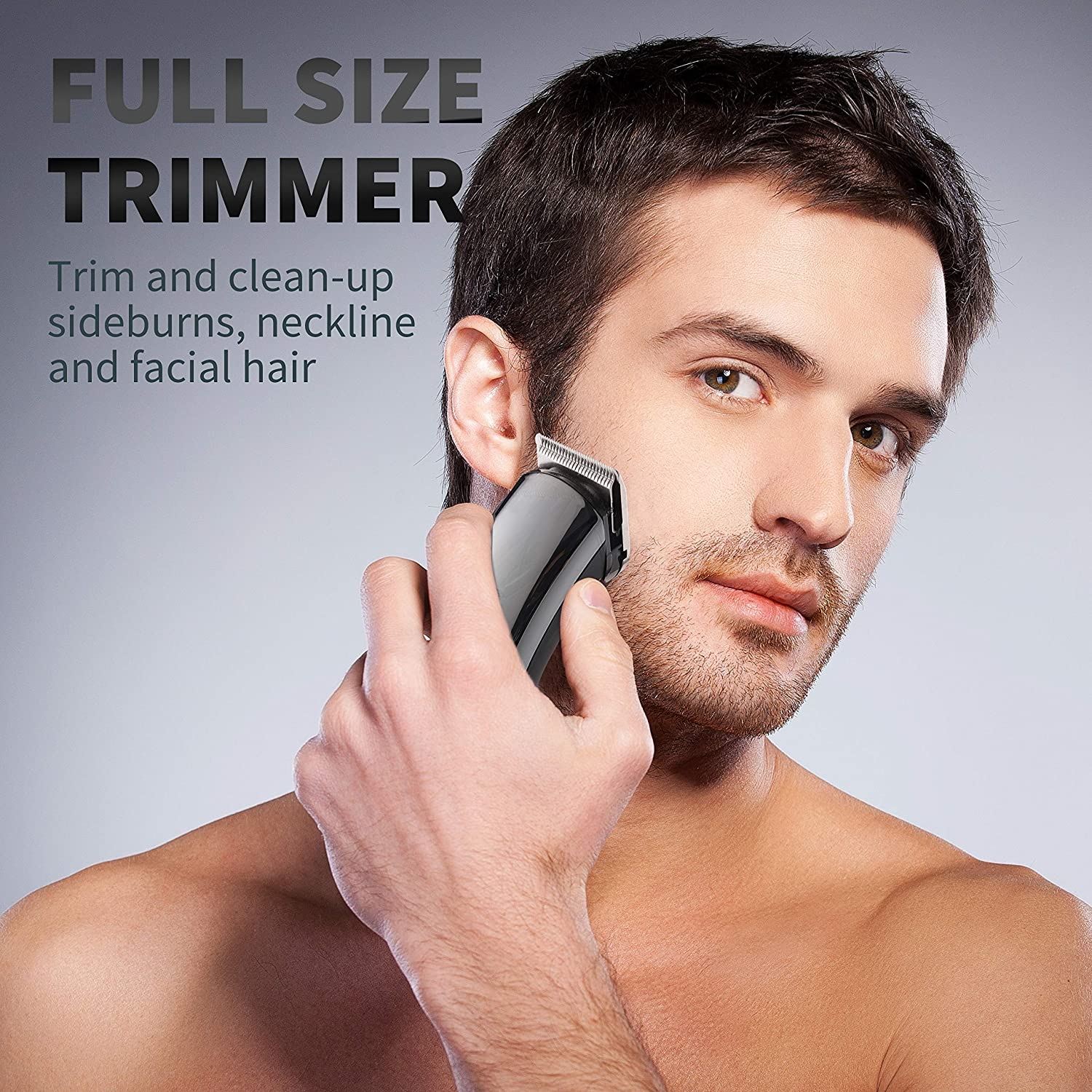 5 In 1 Electric Mustache & Beard Trimmer Kit, Cordless Rechargeable Grooming Set for Men