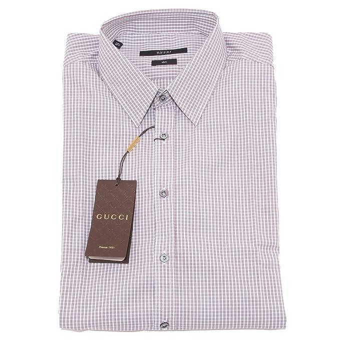 4755O camicia manica lunga slim GUCCI camicie uomo shirt men [43 (17)]: Amazon.es: Ropa y accesorios