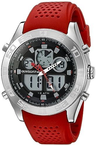 Quiksilver de hombre QS/1017rdsv la Fifty50 Digital Cronógrafo Rojo Correa de silicona reloj: Amazon.es: Relojes