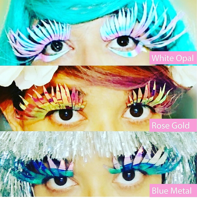 Holographic Feathered Eyelashes Huge Eyelashes Drag Lashes