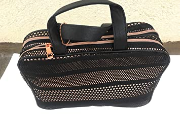5aebb37d513 Image Unavailable. Image not available for. Color: Sonia Kashuk - Cosmetic  Bag Large Weekender Mesh with Metallic Black