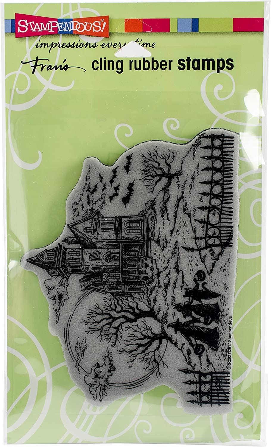 Stampendous Haunted Hill Cling Rubber Stamp