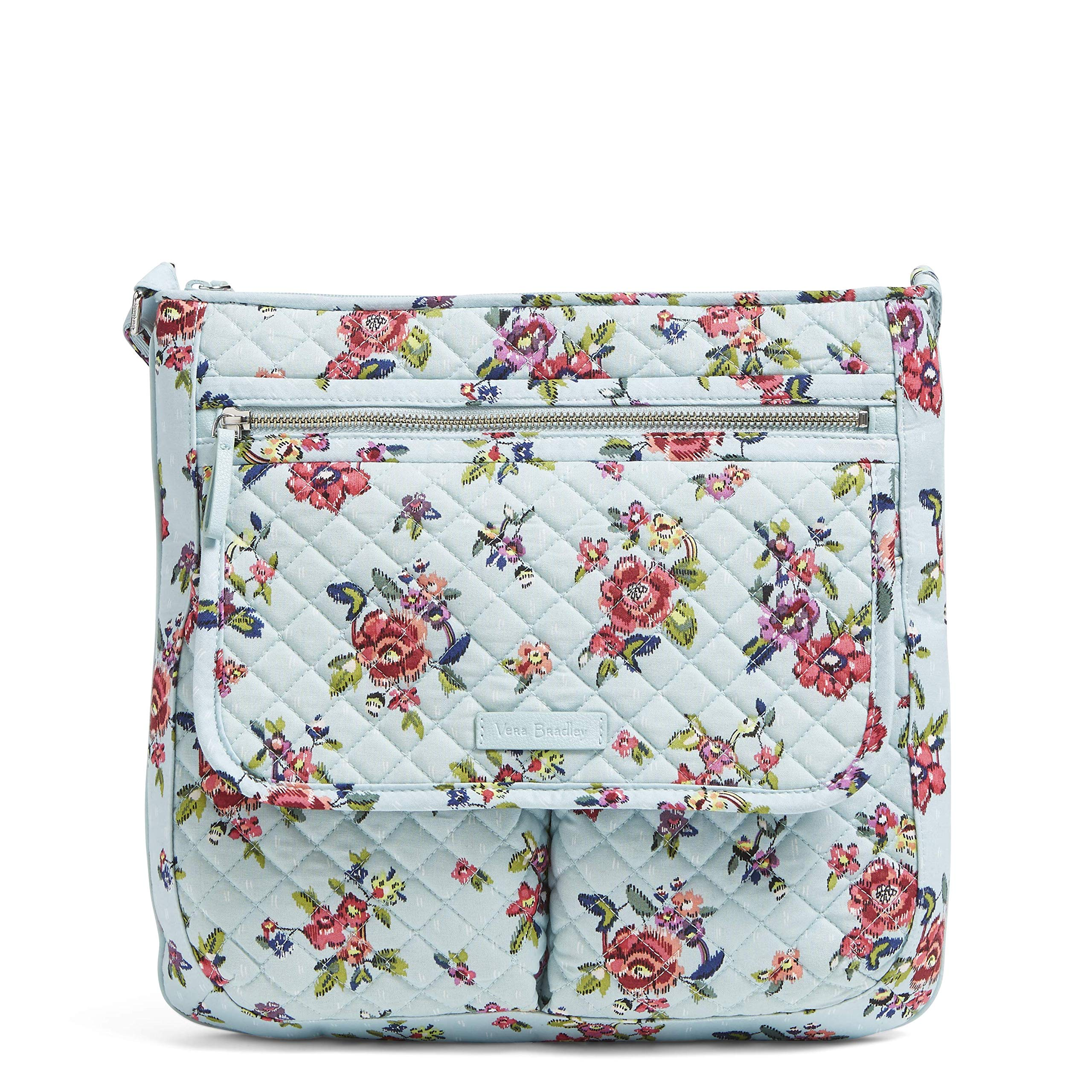 Vera Bradley Iconic Mailbag, Signature Cotton, water bouquet