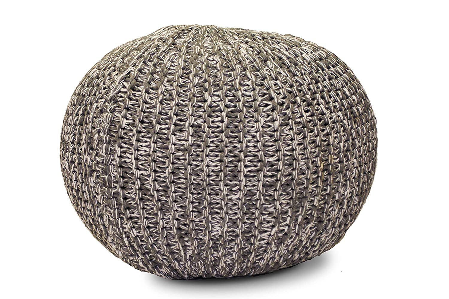 Gneral Woven Floor Seating Cushions Pouf, Knitted Footstool