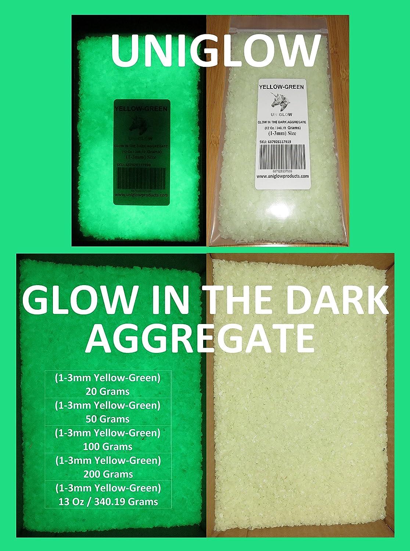UniGlow 暗闇で輝く蛍光粉末染料  100g Aggregate 1-3mm 687928337366 B06XR79LNV 100g Aggregate 1-3mm|Aggregate YELLOW-GREEN Aggregate YELLOW-GREEN 100g Aggregate 1-3mm