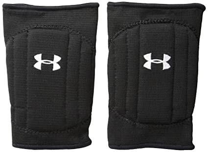 878858ef11 Under Armour Youth Volleyball Knee Pad, Black/Black/White, Small/Medium