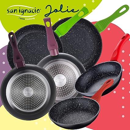 San Ignacio Juego de 6 sartenes colecci/ón Jolie en Aluminio Forjado 18//20//22//24//26 cm