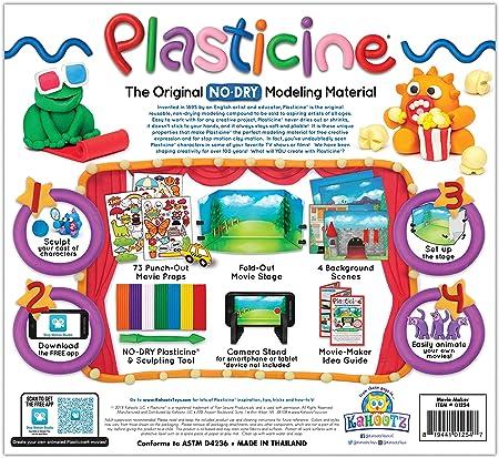 Kahootz Plasticine No-Dry Modeling Clay Movie Maker Studio Kit ...