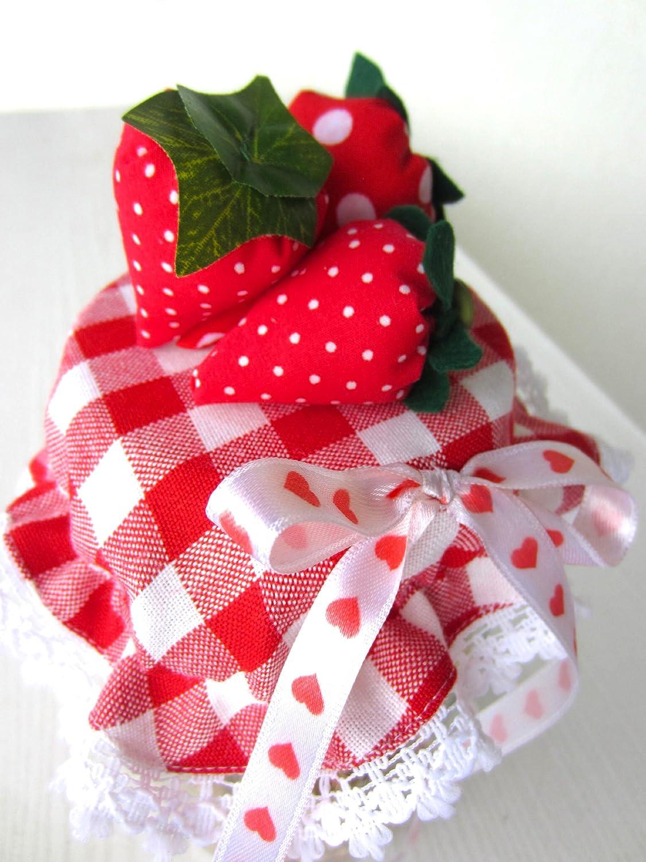 Deko-Erdbeere Nähanleitung mit Schnittmuster auf CD für Erdbeeren ...