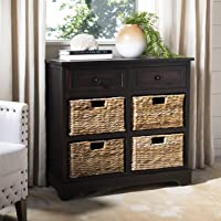 Safavieh American Homes Collection Herman Brown Wicker Basket Storage Unit