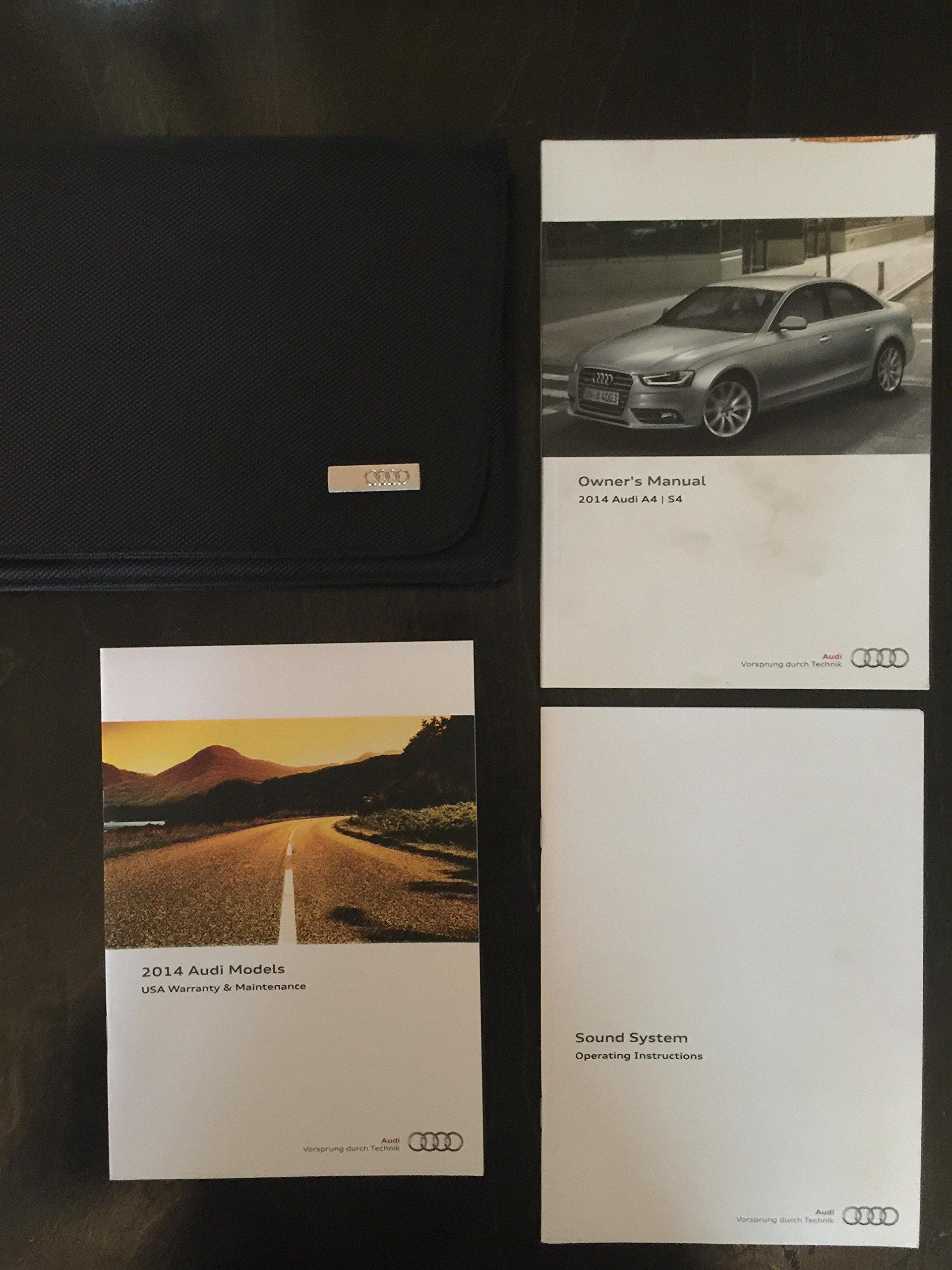 2014 audi a4 s4 owners manual audi amazon com books rh amazon com 2014 audi s4 service manual 2011 Audi S4 Manual