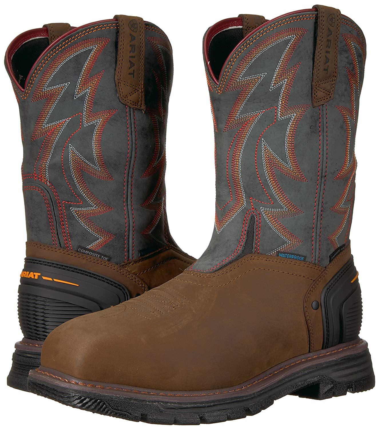 Men's Ariat Catalyst Thunder VX H2O Composite Toe Work Boot, Size: 11 2E, Oily Distressed Brown Leather