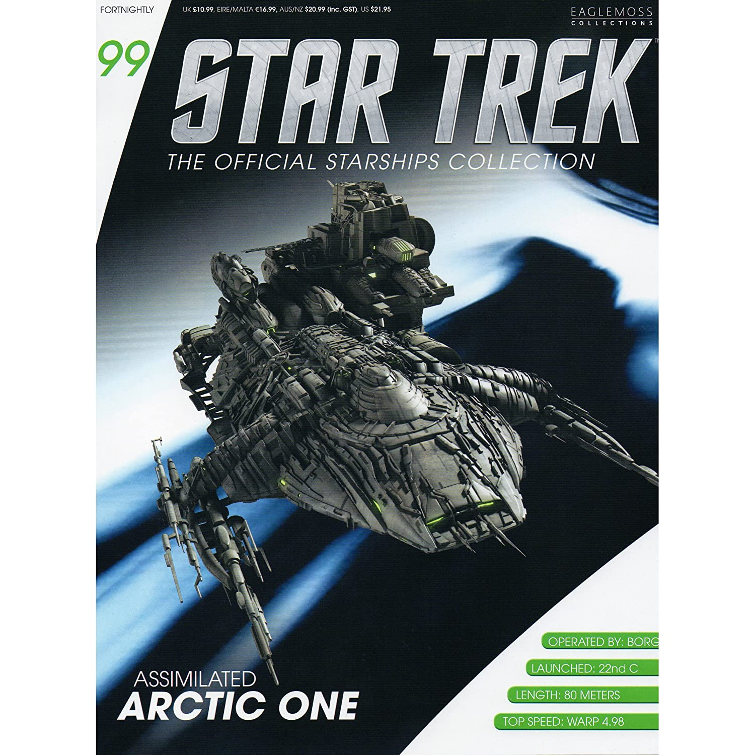 Star Trek Assimilated Arctic One Model with Magazine #99 by Eaglemoss