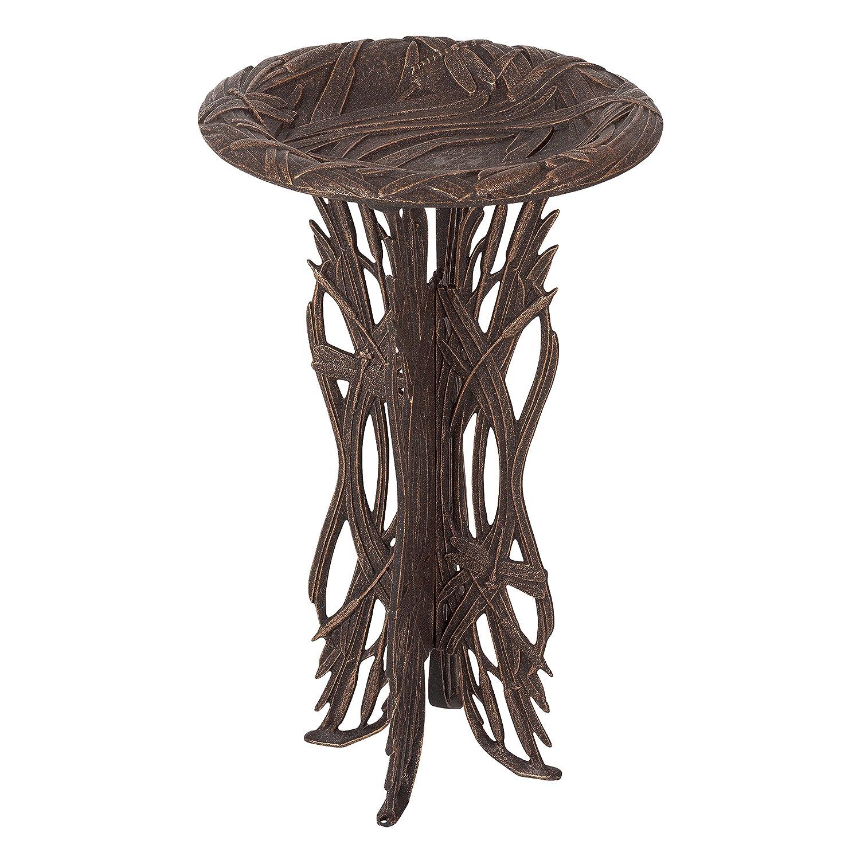 Whitehall Products 00164 Dragonfly Birdbath & Pedestal - Oil-Rubbed Bronze B005ZZYAFG